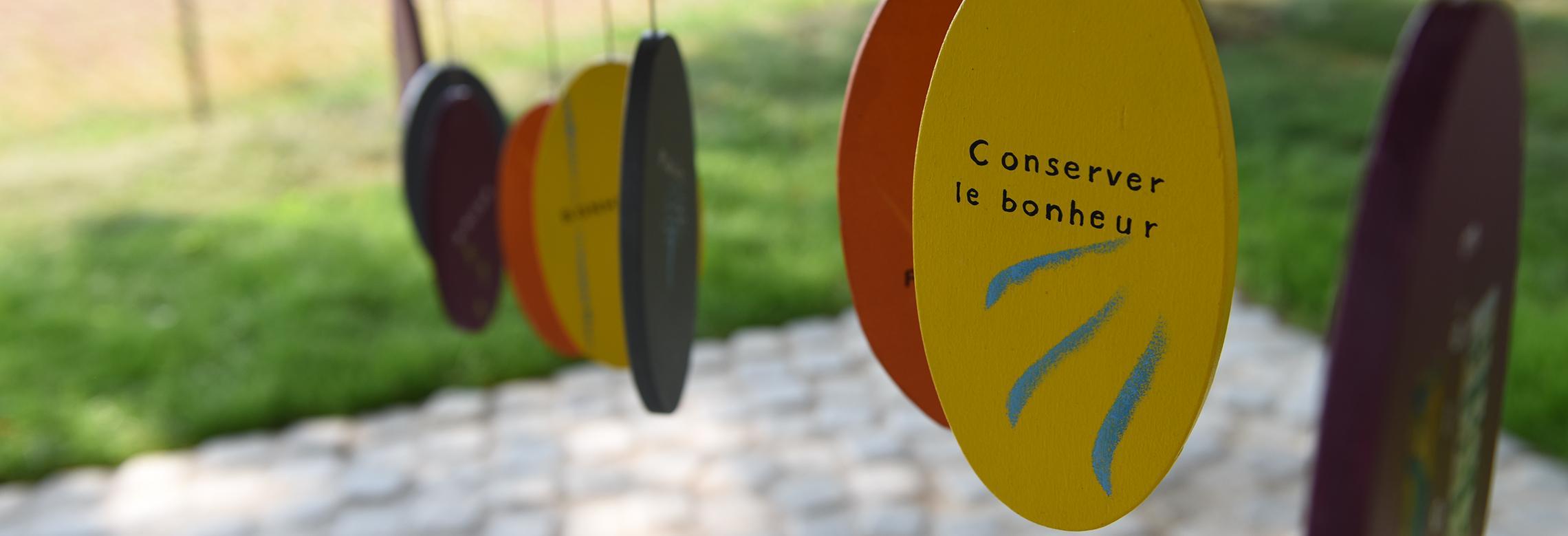 Photo du carillon du jardin des sens de l'EMS Clair-Soleil