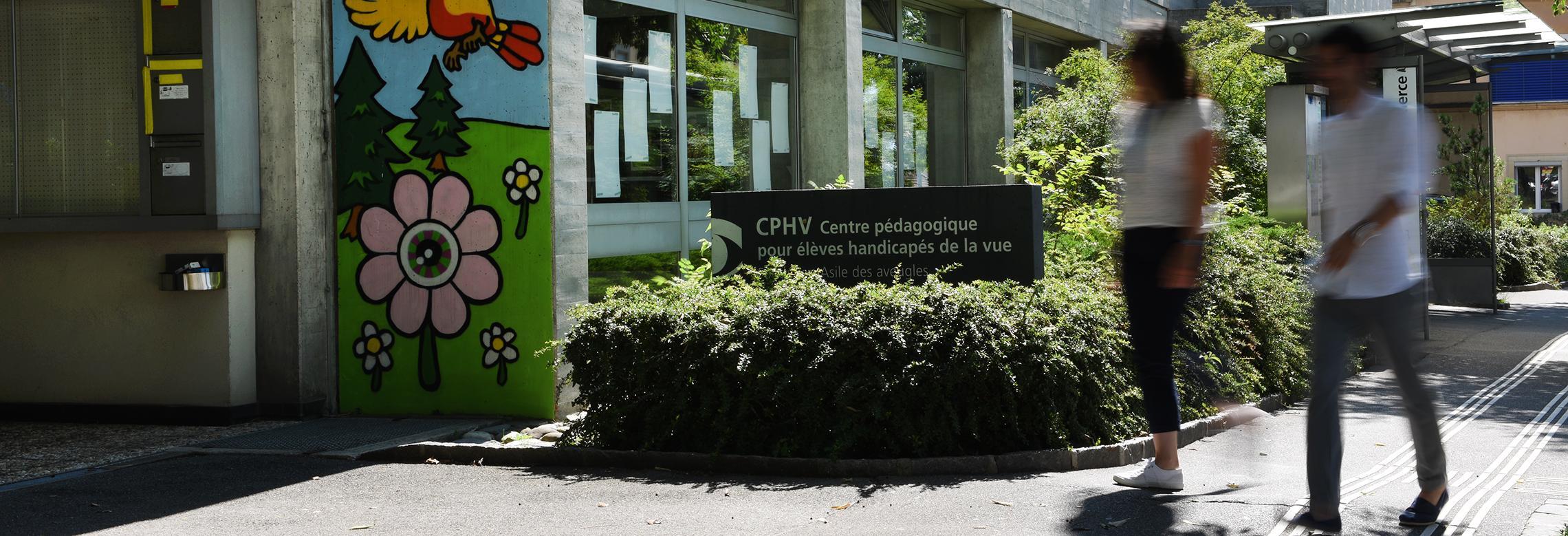 L'entrée du Centre pédagogique pour élèves handicapés de la vue