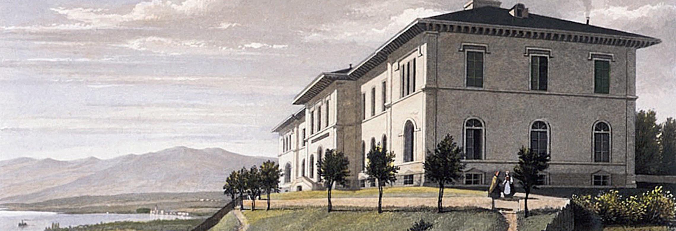 Image d'une gravure de l'Institut vers 1850