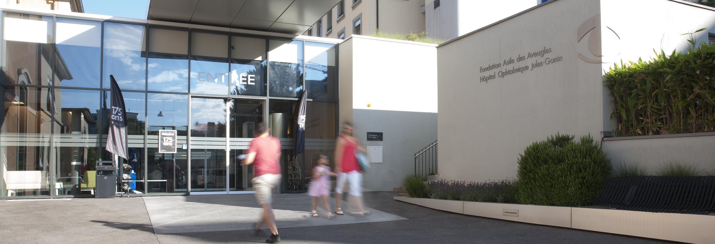 Image de l'entrée de l'hôpital ophtalmique Jules-Gonin