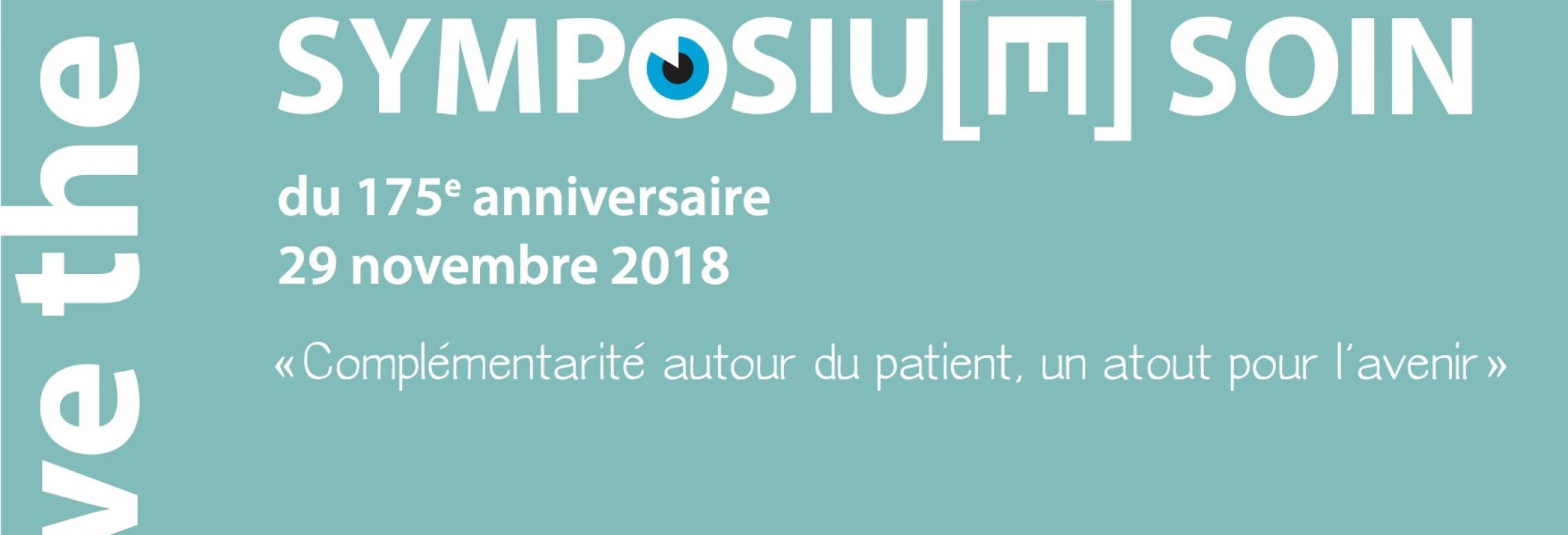 Image de la couverture du save the date du Symposium soin 2018