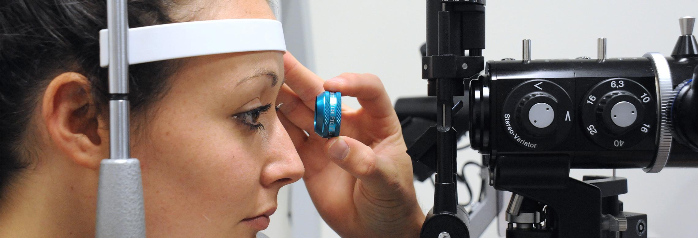 Image d'un examen du fond d'oeil d'une patiente