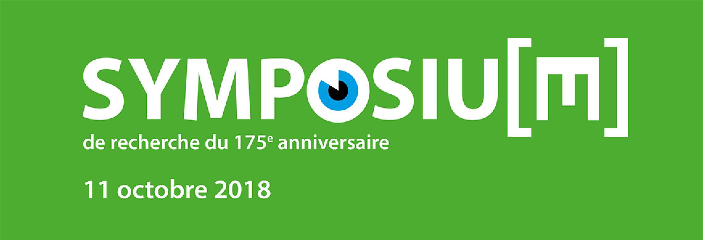 Image de l'affiche du symposium recherche 175e anniversaire
