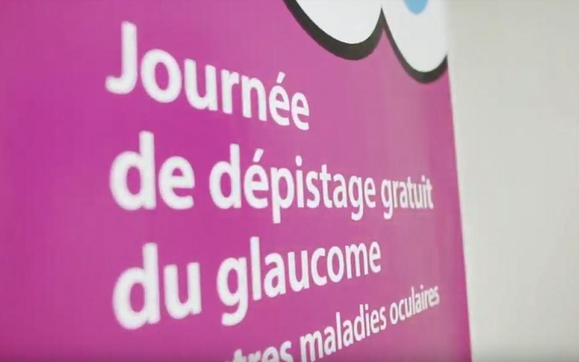 Photo de l'affiche du dépistage du glaucome